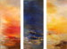 14 Hours - Sunset, Night, Sunrise | oil on canvas  72x90 in. triptych </br> Corona Del Mar, California