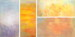 Four paintings for the Shanghai International Convention Center </br> oil on canvas: Winter 70x36 in. | Summer 88x39 in. | Spring 39x88 in. | Autumn 36x70 in.
